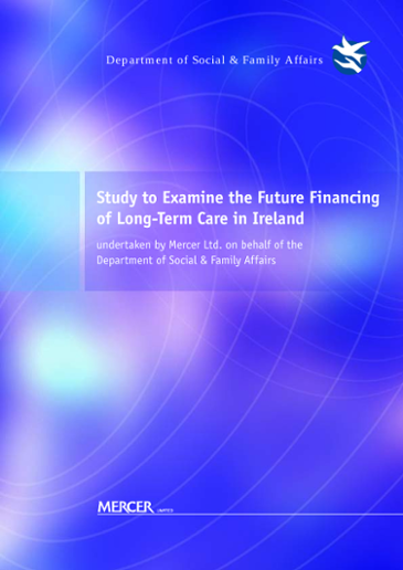 Study to examine the future financing of long-term care in Ireland