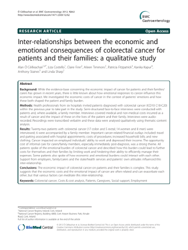 Inter-relationships between the economic and emotional