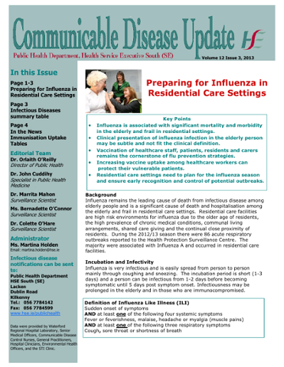 Communicable Disease Update