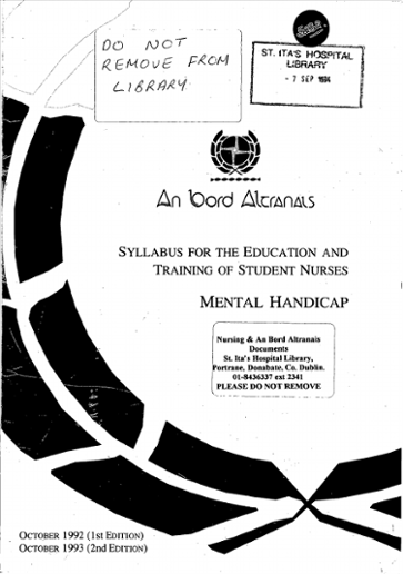 An Bord Altranais  Syllabus for the education and training