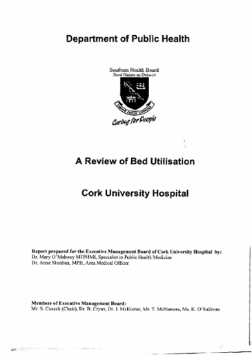 A review of bed utilisation: Cork University Hospital / Mary O