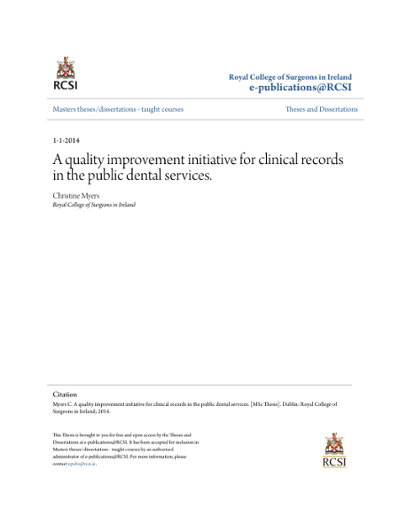 rcsi md thesis