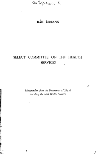 ELECT COMMITTEE ON THE HEALTH SERVICES