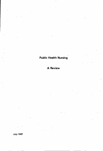 Public Health Nursing A Review