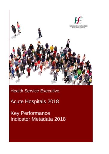 Acute Hospitals 2018 Key Performance Indicator Metadata 2018