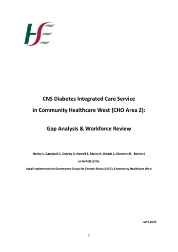 CNS Diabetes Integrated Care Service in Community Healthcare